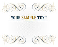 Vintage lace blank. In vector Royalty Free Stock Photos
