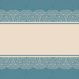 Vintage lace border, seamless background Stock Photos
