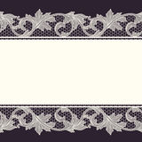 Vintage lace border, seamless background Royalty Free Stock Images