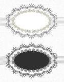 Vintage lace borders set Stock Images