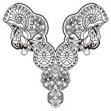 Vintage lace detachable collar-necklace embroidery. vector illustration