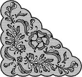 Vintage lace element, ornamental flowers. Vector Royalty Free Stock Photography