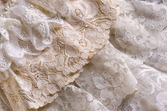 Vintage lace fabrics Royalty Free Stock Photo