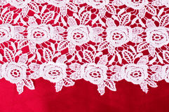 Vintage lace with flowers Stock Photos