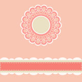 Vintage lace frame. Elegant vintage lace frame for invitation or greeting card vector illustration