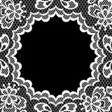 Vintage lace frame, abstract ornament. Vector Royalty Free Stock Images