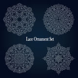 Vintage lace frame design. Set of napkin elegant design elements. Royalty Free Stock Images
