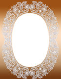 Vintage lace frame Royalty Free Stock Image