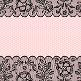 Vintage lace frame, ornamental flowers. Vector Stock Photos