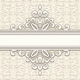 Vintage lace frame vector illustration