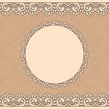 Vintage lace frame, seamless background Royalty Free Stock Photography