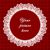 Vintage Lace Frame, Seamless Background Stock Image