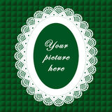 Vintage Lace Frame, Seamless Background Royalty Free Stock Photo