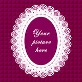 Vintage Lace Frame, Seamless Background Stock Photography