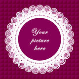 Vintage Lace Frame, Seamless Background Royalty Free Stock Photos