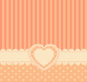 Vintage lace heart with ornaments royalty free illustration