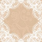 Vintage lace invitation card. Stock Photos