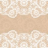 Vintage lace invitation card. Royalty Free Stock Photos