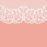 Vintage lace invitation card. Stock Image