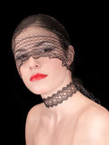 Vintage lace mask girl Stock Image