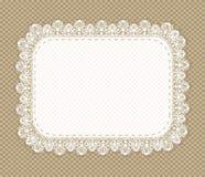 Vintage lace napkin frame Stock Photo