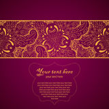 Vintage Lace Ornament Card Royalty Free Stock Photos