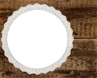 Vintage lace over wooden background Royalty Free Stock Image