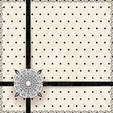 Vintage lace polka dots vector ornament card Royalty Free Stock Photos