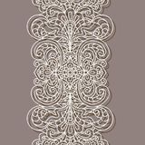Vintage lace ribbon, border pattern Stock Images