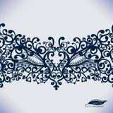 Vintage Lace Ribbon seamless pattern. stock illustration
