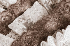 Vintage lace trims Royalty Free Stock Image