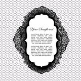 Vintage lacy label Royalty Free Stock Photography