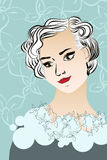 Vintage lady portrait Stock Images