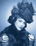 Vintage lady. Royalty Free Stock Images