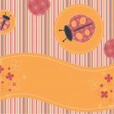 Vintage ladybug background stock photography