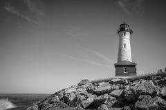 Vintage Lake Superior Lighthouse Stock Image