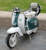 Vintage Lambretta motor scooter Stock Image