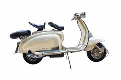 Vintage lambretta on a white background Royalty Free Stock Photos