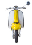 Vintage Lambretta. Vintage yellow Lambretta isolated on white background Royalty Free Stock Photography