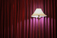 Vintage lamp in bedroom, feeling romantic in the room, interior equipment of home Stock Photo