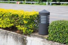 Lamp post in park Stock Photo