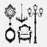 Vintage Lamp icons set great for any use. Vector EPS10. Royalty Free Stock Photo