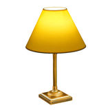 Vintage lamp isolated on white. With clipping path royalty free stock images