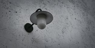 Lamp light on the wall. Vintage lamp light on the wall Royalty Free Stock Photo