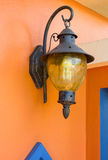 Vintage lamp light on the wall Royalty Free Stock Photos