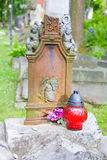 Vintage lamp on old cemetery Royalty Free Stock Photo