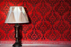 Vintage lamp in old interior from rococo period Stock Images
