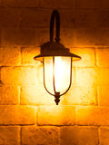 Vintage lamp on old wall Stock Images