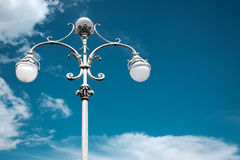 Vintage lamp post against blue sky Royalty Free Stock Images