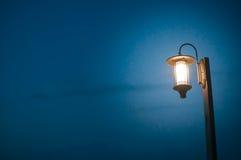 Vintage lamp post at dark night Stock Image